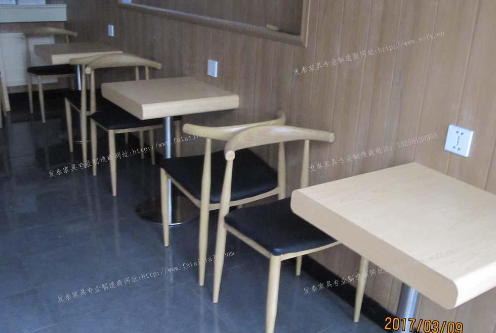 食堂用餐桌椅_奶茶店餐桌椅咖啡店餐桌椅汉堡店餐桌椅情侣用餐桌椅_一桌两椅 ...